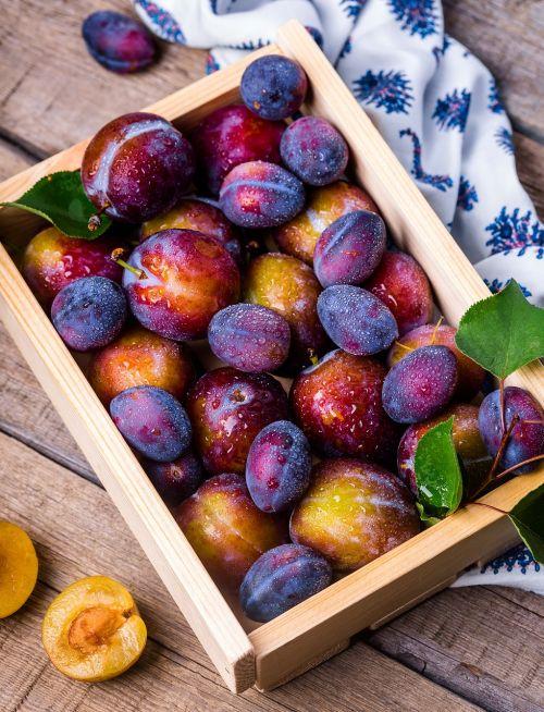 slyva,dėžė,vaisiai,vasara,natiurmortas,vitaminai,sodas,Produktai,maistas,klasė,mėlynas,raudona,dacha,turgus