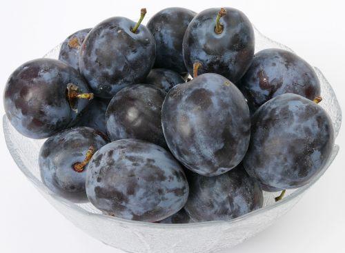 plum fruit bowl fruit