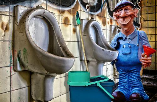 plumber toilet work