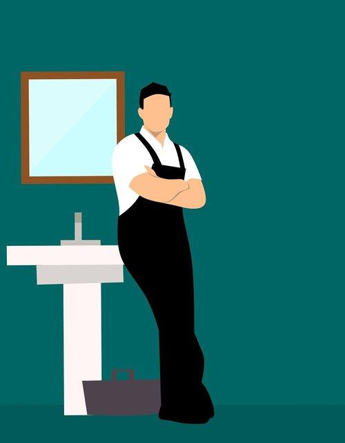 plumber  man  bathroom