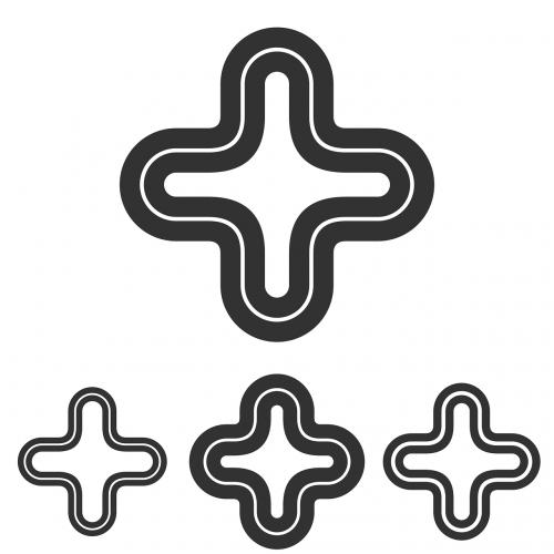 plus logo minimal