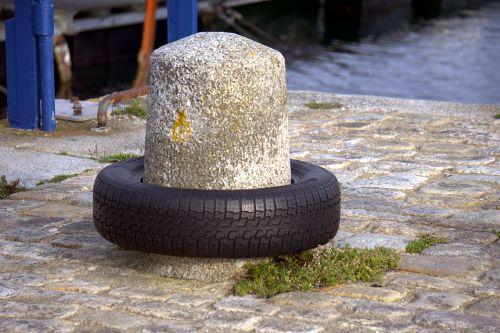 Tire And Bollard