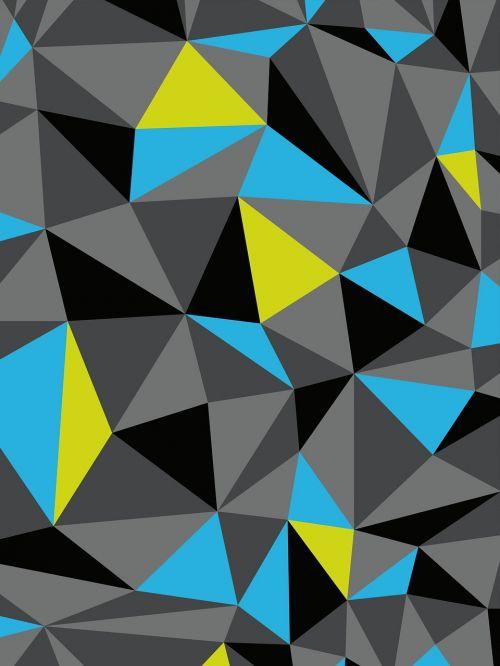 polygon gray blue