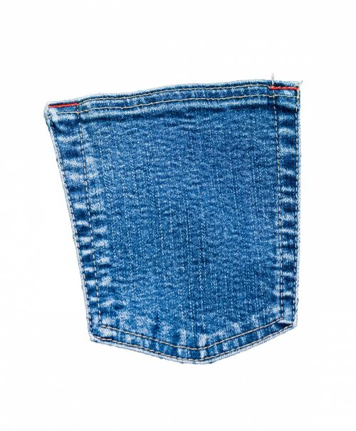 Pocket Denim Jeans Isolated