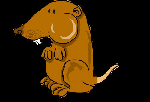 pocket gopher mammal cartoon