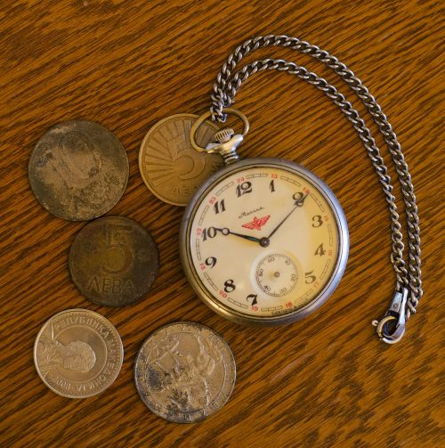 pocket watch coins watch fob