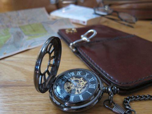 pocket watch travel map