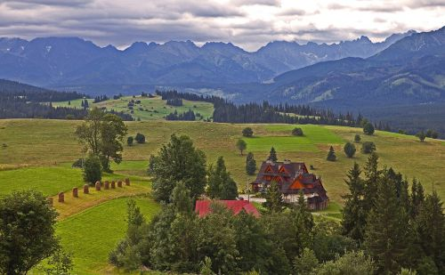 podhale the tatra mountains cloudy day