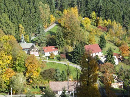 ruduo, slėnis, spalvos, rudens slėnis