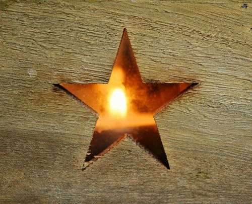poinsettia star wood wooden structure