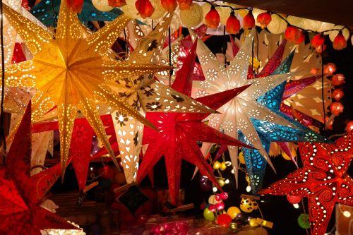 poinsettia christmas market stand