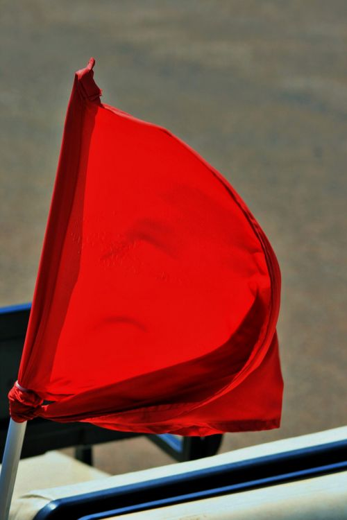 Point Of Flag Tied To Pole