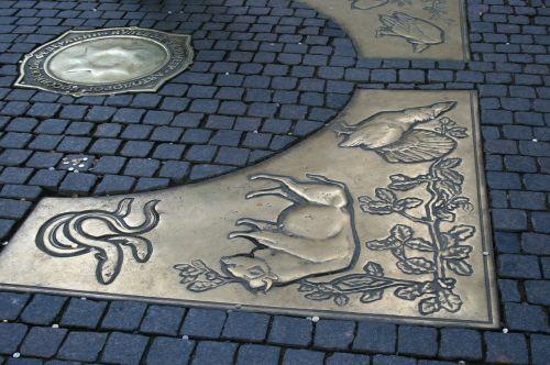 point of zero kilometer bronze plates symbols
