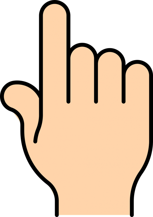 pointing finger bold