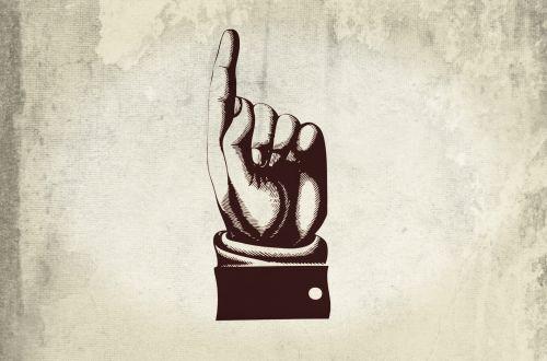 Pointing Finger - Hand Banner. Hand