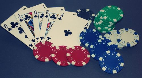 poker royal flush card game