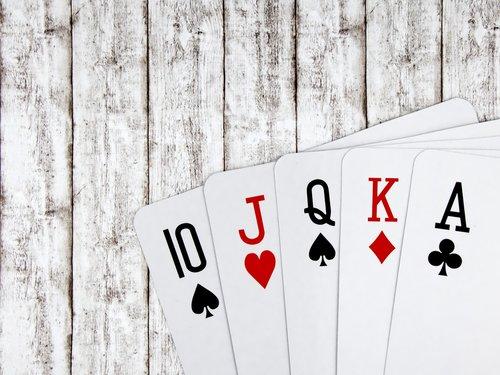 poker  royal flush  jack