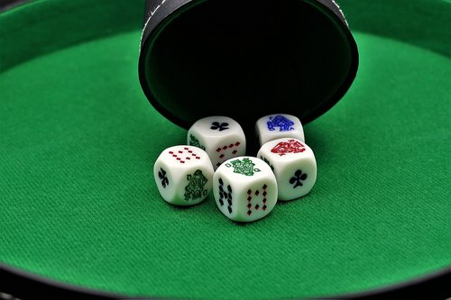 poker dice  gambling  poker