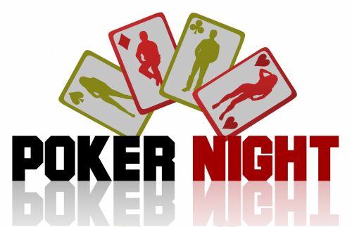 Poker Night Gambling Logo Sign