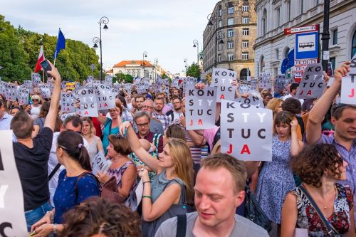 poland demonstration protest
