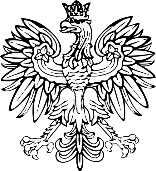 poland coat of arms white eagle