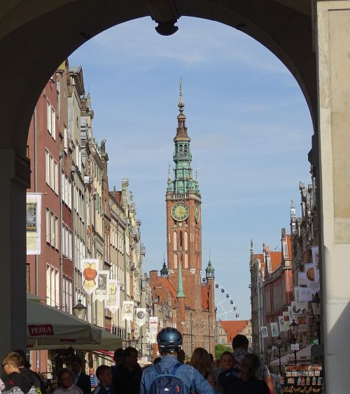 poland,gdansk,long street,old town hall