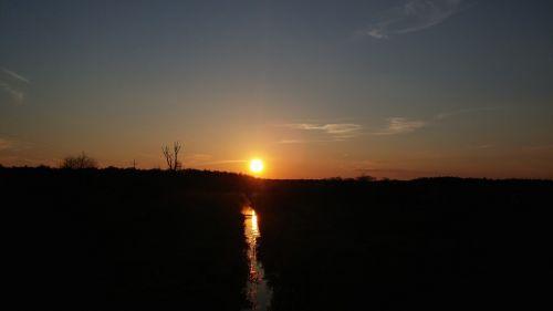 poland village sunset