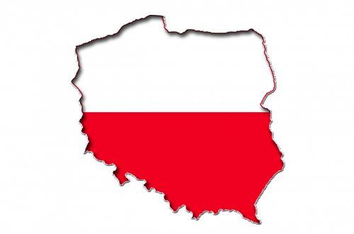 Poland Flag On A Map Of Poland