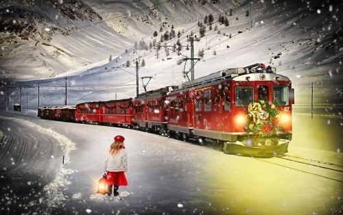 polar express train christmas train