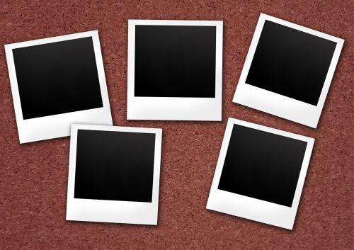 polaroid cork wall photos