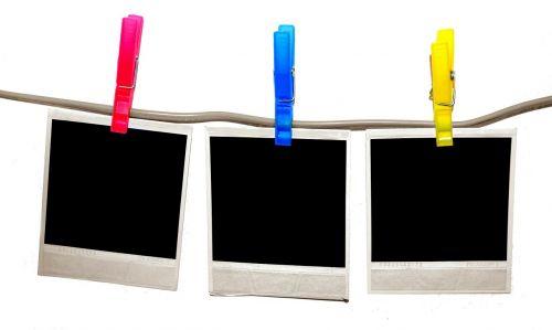 polaroid clothespins photos