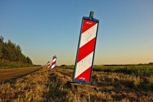 pole safety post signage