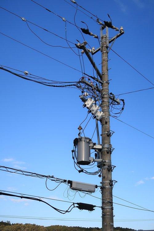 pole  power line  substation equipment