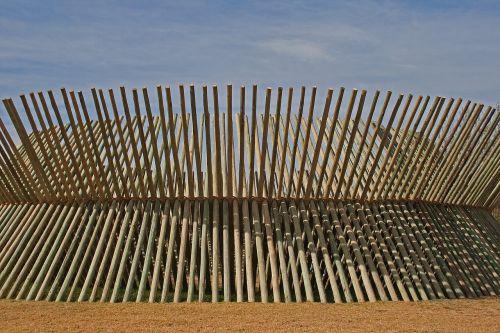 pole structure sculpture wood