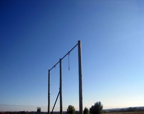 struktūra, polių, dangus, mėlynas, pole struktūra prieš dangų