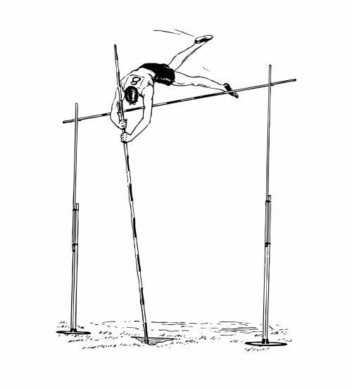 Pole Vaulter Clipart Illustration