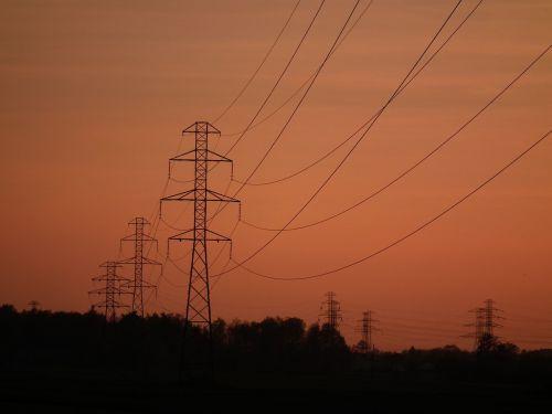 poles energy line