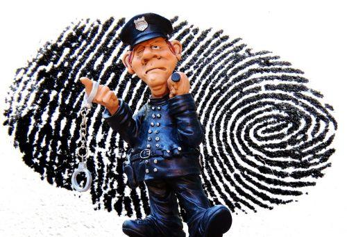 police crime scene fingerprint