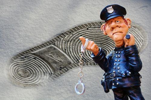 police crime scene footprint