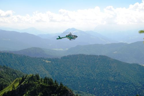 police helicopter rescue
