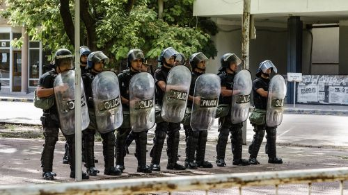 police protest shields