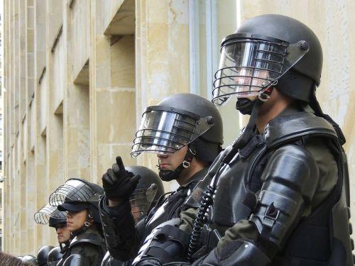 police bogota riot