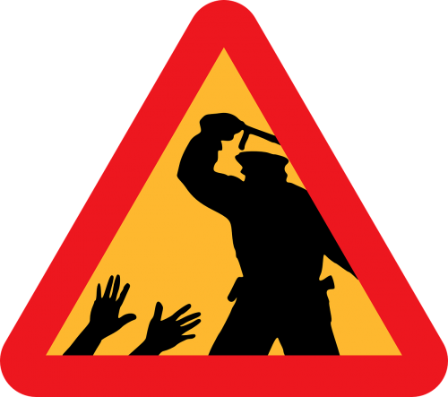 police brutality warning