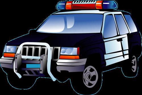 police car black