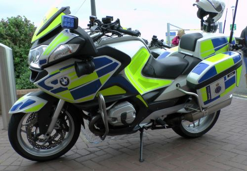 Police BMW Motorcycle