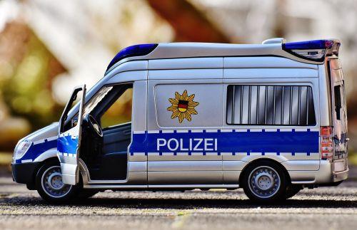 police car team bus police