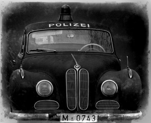 police car oldtimer movie car