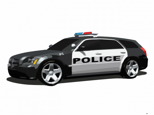 police car cops car