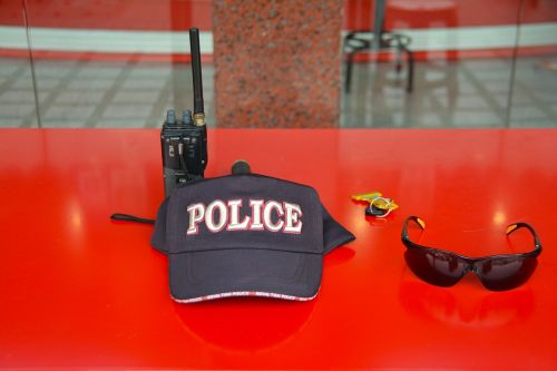 police hat cap black