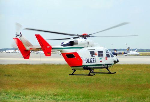 police helicopter bk-117 police